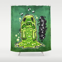 Cartoon Nausea Monster Shower Curtain