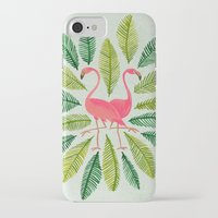 flamingos iPhone & iPod Cases featuring Flamingos by Cat Coquillette