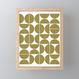 Mid Century Modern Geometric 04 Flat Gold Framed Mini Art Print