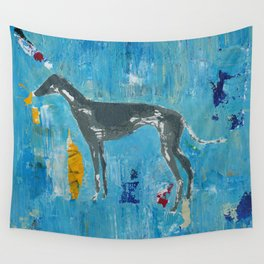 Greyhound Dog Abstract Painting Wall Tapestry