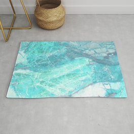 Marble Turquoise Blue Agate Rug