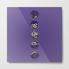 Phases of the D20 Metal Print