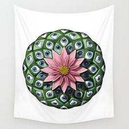Psychedelic Peyote Cactus Wall Tapestry