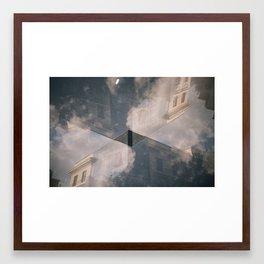 doublexposure vacancyzine Framed Art Print
