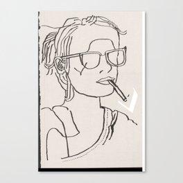 Emma fumant Canvas Print