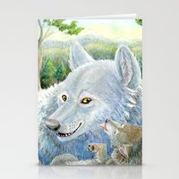 minnesota Stationery Cards featuring Minnesota Wolves by MelanieLehnen