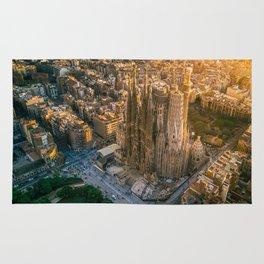 Scale of Sagrada Familia Rug