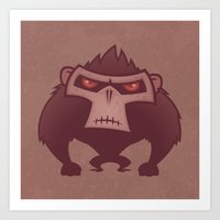 Angry Ape Art Print