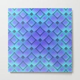 Aqua/Lilac Criss-Cross Metal Print