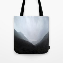 Back in the crouching mountains... Glencoe, Scotland Tote Bag