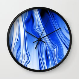 Streaming Blues Wall Clock