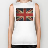 union jack Biker Tanks featuring Union Jack by Bethan Eastwood