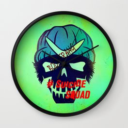 "BOOMERANG ""Suicide Squad"" Wall Clock"