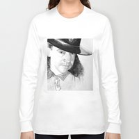 stevie nicks Long Sleeve T-shirts featuring STEVIE RAY  by ART FEEDS HUNGER