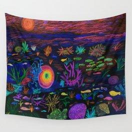 Deep Sea at Sunset Wall Tapestry