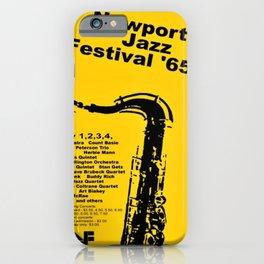 Vintage 1965 Newport, R.I Jazz Festival Advertisement Poster iPhone Case