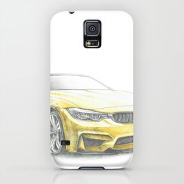 Yellow sport car iPhone Case