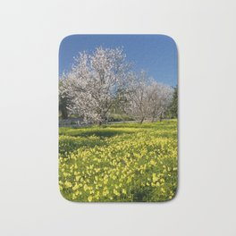 Almond trees and wild flowers (in Portugal) Bath Mat