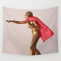 super hero Wall Tapestries featuring super hero by bmkoc