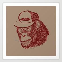 Monkey Trucker Art Print