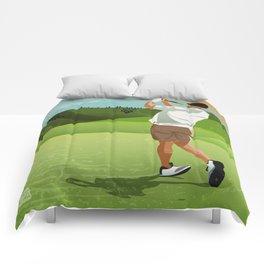 Mountain Golfer Comforters