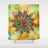 gypsy Shower Curtains featuring Gypsy Dance by Klara Acel