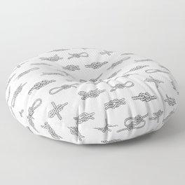 knots pattern sailing nautical knot tying illustration coastal decor Floor Pillow