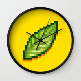 Pixel Leaf Wall Clock
