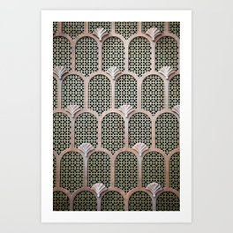 Art Deco Detail  Art Print