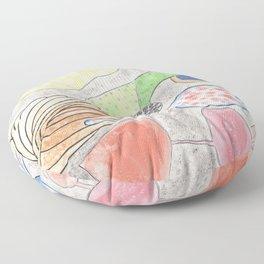Collection of Alien Organs Floor Pillow