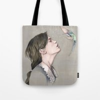 pixies Tote Bags featuring The Pixies by Talia Gavish