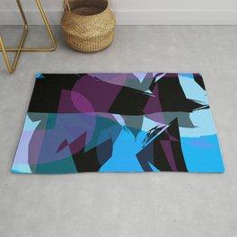 Transparent cool colors Rug