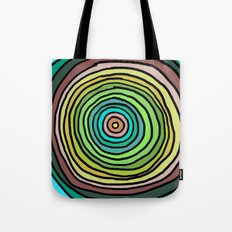 Circle Stripes Tote Bag