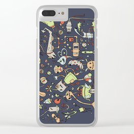 Doodle Bots by dana alfonso Clear iPhone Case