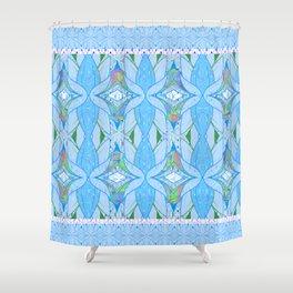 Mesmerizing Tribal Print in Light Blue Shower Curtain