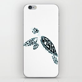 Calligram Sea Turtle iPhone Skin