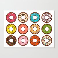donuts Canvas Prints featuring Donuts by TinyBee