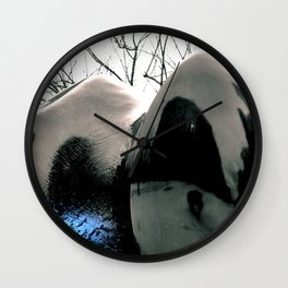 Reflecting Blue of Winter Wall Clock