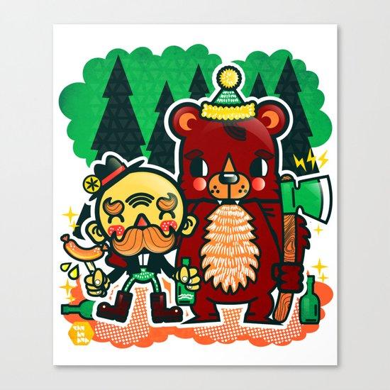 Lumberjack and Friend Canvas Print