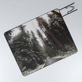 Redwood Forest Adventure II - Nature Photography Picnic Blanket