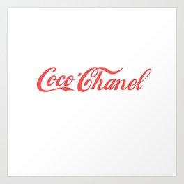 coco cola Art Print
