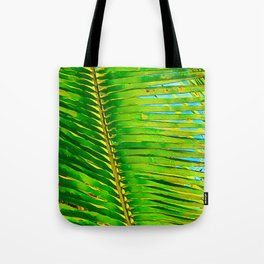 Coconut Frond in Green Aloha Tote Bag