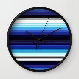 Deconstructed Serape in Blue Wall Clock