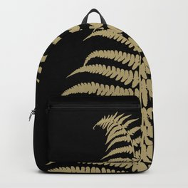 Fern Leaf Gold on Black #1 #ornamental #decor #art #society6 Backpack