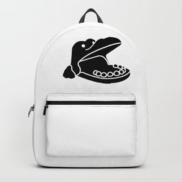 Hungry Hippo Silhouette Backpack