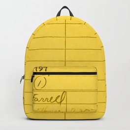 Library Card 797 Yellow Backpack