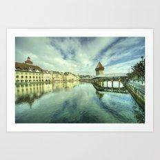 Chapel Bridge  of Lucerne Art Print