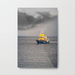 RNLI Lifeboat Metal Print