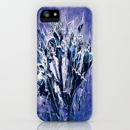 Thistle and Weeds_deep purple iPhone Case