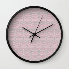 Nouveau Lines (Grey & Pink) Wall Clock